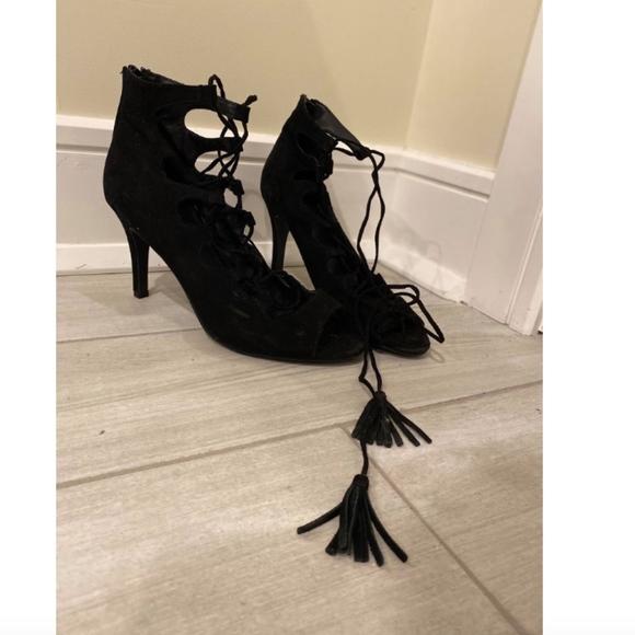Nine West Shoes - Lace Up Suede Heels